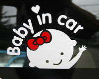 Cute Baby In Car Art Vinyl Window Car Removable Mural Decal Wall Decor Sticker