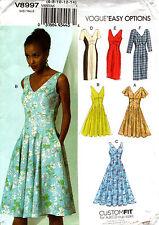 Vogue Sewing Pattern V8997 8997 Ladies Dress 6-14 14-22