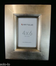 "Metallic 4"" x 6"" Glow Brushed Silver Colour Wooden Photo Picture Frame  New"