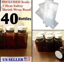 WHOLESALE 40x Empty Amber Pill Bottles Tablet Capsule Container/Jar/120CC+Seal