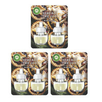 3x Airwick Air Wick Plug In Air Freshener Refill Mince Pie TWIN PACK - 19ml