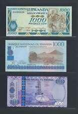 Rwanda  Lot de 3 billets différents  en état NEUF  Lot Numéro 2