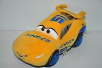 "Disney Store Cars 3 Dinoco Lightning McQueen Plush Yellow  Medium 14"""