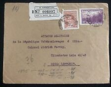 1938 Buenos Aires Argentina Airmail cover To Czech Army In Riga Latvia