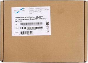 Solarflare XtremeScale SFN8522-PLUS Dual Port 10GbE PCI-E Server Adapter