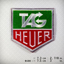 TAG HEUER EMBROIDERED PATCH IRON ON OR SEW decorate clothes chronograph watch