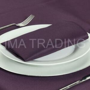 EGGPLANT PURPLE SQUARE AUBERGINE TABLECLOTH POLYESTER TABLE CLOTHS VARIOUS SIZES