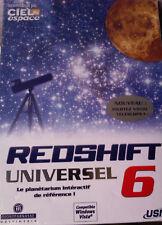 """PC """"Redshift 6 Universel"""" (Ciel et Espace) NEUF SOUS BLISTER"""
