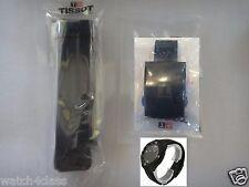 Tissot T Touch Expert Solar Rubber silicon Band strap bracelet Black Buckle T091