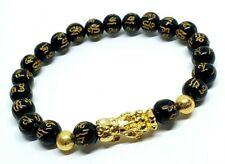 Feng Shui Black Obsidian Pixiu Bracelet Wealth Good Luck Dragon Glass Jewelry