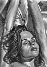 large original drawing CONCHITA female NUDE erotic ART