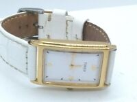 Timex Womens 22mm Rectangle 1 Jewel Watch, Gold Tone, New Battery, Working