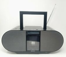 Sony ZS-S4IP Ipod Dock Cd Player Radio Aux In Boombox Black Tested