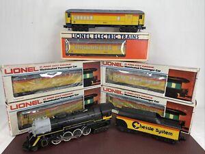 Lionel Chessie Steam Engine 6-8003 & 6 Passenger Cars 6-9581,82,83,84,85,86