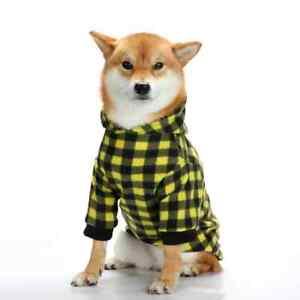 Flannel Dog Sweater Plaid Dog Sweater - Hooded Jacket - Shiba Doge Flannel