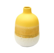 Mojave Retro Yellow Bud Vase Stoneware Flower vase Pot Scandi Home Decor Decor