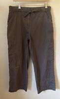 J Jill Stretch Crop Ankle Pants Size 10 33x24 Accent Stitching Cotton Women's