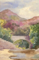 Group of Mid 20th Century Watercolours - Landscape Views