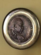 "Vintage Dr. Martin Luther King Jr. Cast Bronze ""I Have a Dream"" Plate 1968"