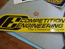 COMPETITION ENGINEERING Sticker Decal Automotive ORIGINAL old stock PERFORMANCE