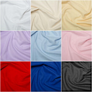 Plain Coloured Wincyette Flannel Brushed 100% Cotton Fabric