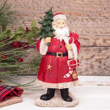 Santa Claus Holding Christmas Tree Figurine 20cm