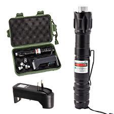 Pointeur Stylo Laser Vert Visible Faisceau Puissant Cap + Chargeur Prise EU