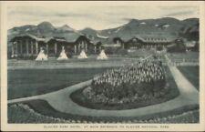 Glacier National Park Hotel Main Entrance c1920s Postcard