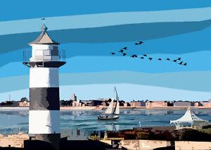 Southsea Castle Lighthouse Hampshire Limited Art Print By Sarah Jane Holt