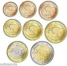 COLLEZIONE COMPLETA ESTONIA 2011  BLISTER 8 MONETE EURO