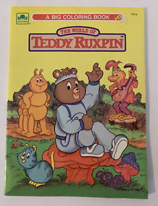 Teddy Ruxpin Coloring Book 1986 Golden Books ~ Unused No Marks Clean Vintage