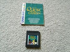 QUEST FOR CAMELOT - GAME BOY COLOR CARTRIDGE & MANUAL