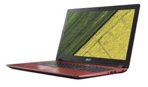 """Acer Aspire 3 15.6"""" Notebook Red / Full HD / 8GB RAM / AMD A9 CPU / Win 10 - A"""