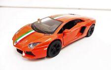 "Lamborghini ""AVENTADOR"" Orange KINSMART 1/38 Diecast NEUF"