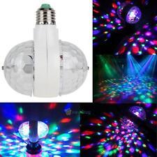 6W LAMPE LED ROTATIVE MUSIQUE RGB JEU DE LUMIÈRE SOIRÉE FÊTES MARIAGES E27