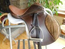 "13"" Gatsby Child's English Saddle w/ Fittings & Fleece Pad (ES84)"