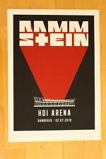 Rammstein - Siebdruck Tourplakat/Tourposter 2019 -  Hannover - Nr. 167/175
