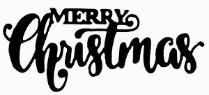 Merry Christmas Block and Script Text - Metal Cutting Die - AUSTRALIAN STOCK