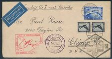DOX FLIGHT COVER JAN 30,1931 GERMANY TO CHICAGO, USA BT7902