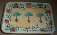 Plateau mélamine 32X45,5cm arbre dans peau de fleur vert, jaune, rouge, blanc
