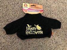 "Bear Works Bear or Doll Black ""Happy Halloween"" Halloween Sweater Fits 16"" Bears"
