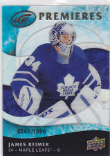 2009 09-10 Upper Deck Ice #114 James Reimer RC premieres rookie 260/1999 Leafs