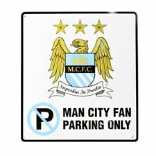 Official Manchester Man City FC Football Club No Parking Sign Metal 23cm X 25cm
