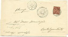 P6370   Vicenza, Crespadoro, annullo numerale a sbarre 1889