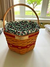 New ListingLongaberger 1997 Edition Christmas Collection Snowflake Basket Combo