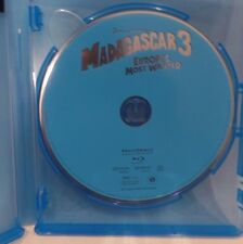 MADAGASCAR 3:  EUROPE'S MOST WANTED, BLURAY SINGLE DISC W/BLU CASE, NO COVER ART