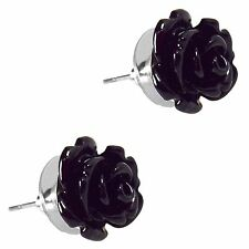 Rose Studded Post Flower Earrings Assorted Colors By Grace Of New York