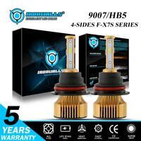 4-Side 9007 HB5 LED Headlight High Low Beam 375000LM White Bulb Kit 6000K 2500W