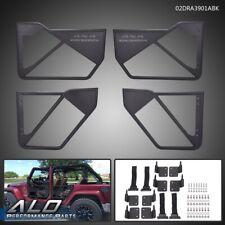 Front + Rear Side Iron Tube Doors For 2007-2017 Jeep Wrangler JK 4Door Black