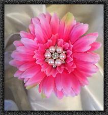 Qualité soie artificielle gerbera fleur avec jeweled centre rose chaud bouquets